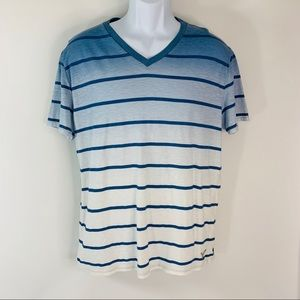 American Eagle Athletic Fit Blue Ombré T Shirt